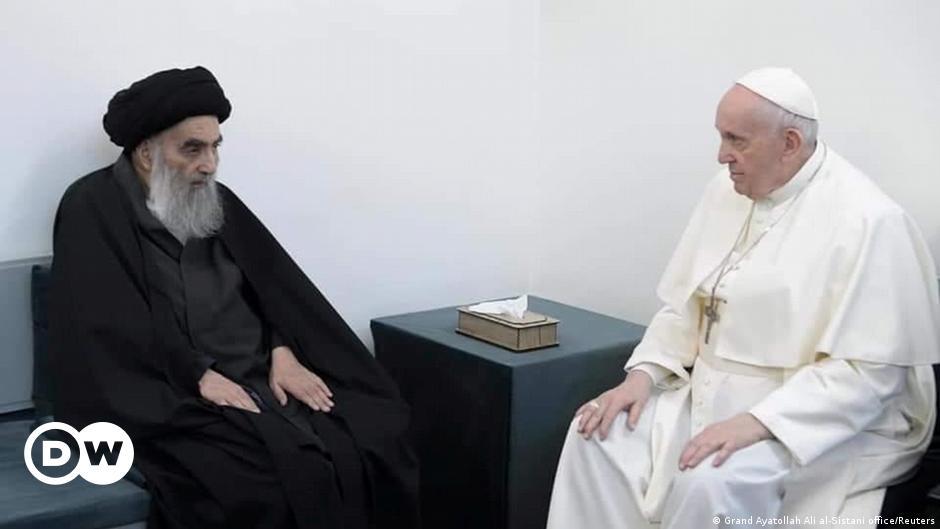 Papa Irak'ta Şii lider Ayetullah Ali el Sistani ile görüştü