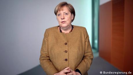 Screenshot from Angela Merkel's video podcast