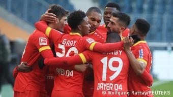 Joie des joueurs du Bayer Leverkusen