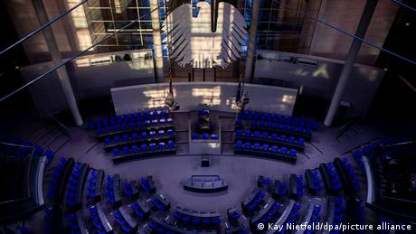The plenary hall of the Bundestag