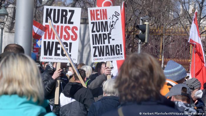 Demonstration in Wien