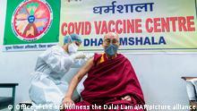 Indien Coronavirus | Dalai Lama erhält einen COVID-19-Impfstoff