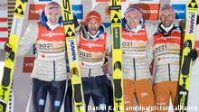 Deutsche Skispringer gewinnen WM-Goldmedaille im Teamwettbewerb