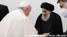 Irak Najaf | Besuch Papst Franziskus | Großajatollah Ali al-Sistani