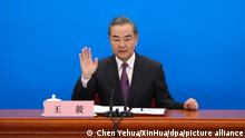 China Peking Außenminister Wang Yi
