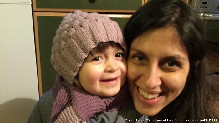 Nazanin Zaghari-Ratcliffe mit Tochter