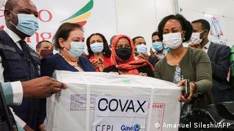 Поставка вакцины AstraZeneca в Эфиопию в рамках COVAX