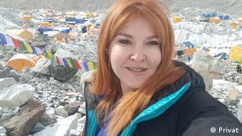Η Βανέσα Αρχοντίδου σε πρόσφατη ορειβατική αποστολή