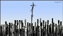 Karikatur von Vladdo | Un peregrino en Irak