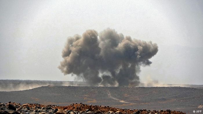 حمله هوایی عربستان به مواضع حوثیها درمارس ۲۰۲۱ به مأرب - عکس از آرشیو