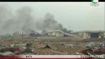 Äquatorialguinea Explosion in Bata - Screenshot TVGE
