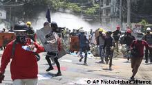Myanmar Proteste in Yangon
