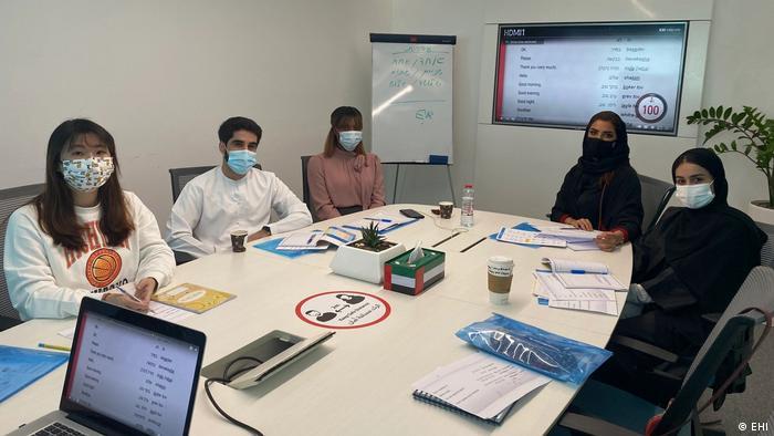 Students in a classroom in Dubai