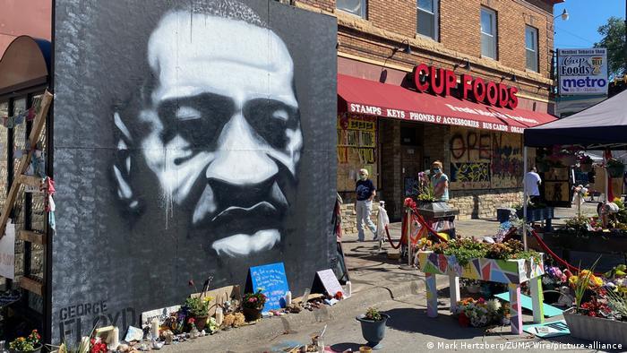 A memorial to George Floyd in Minneapolis