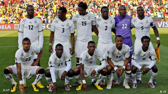Ghana team poses for a team photo prior to the World Cup group D soccer match between Serbia and Ghana at the Loftus Versfeld Stadium in Pretoria, South Africa, Sunday, June 13, 2010. Back row from left: Prince Tagoe, Asamoah Gyan, Isaac Vorsah, Hans Adu Sarpei, goalkeeper Richard Kingson, and John Mensah. Front row from left: Kevin-Prince Boateng, Kwadwo Asamoah, John Pantsil, Dede Ayew, and Anthony Annan.
