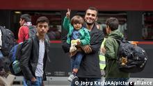 Deutschland Geflüchtete in München 2015