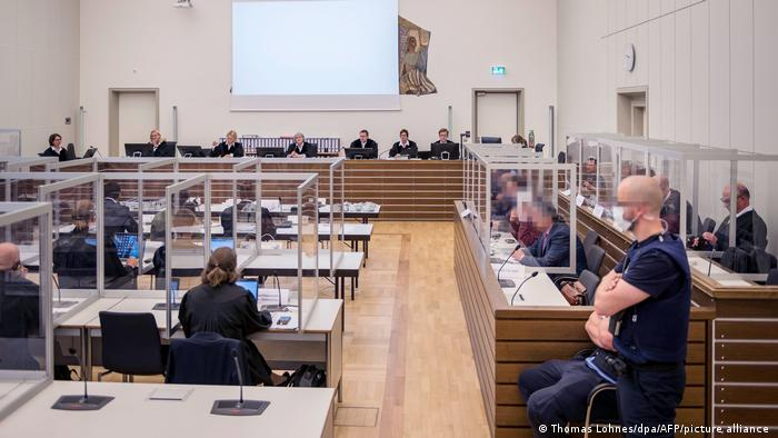 Interior of the courtroom in Koblenz