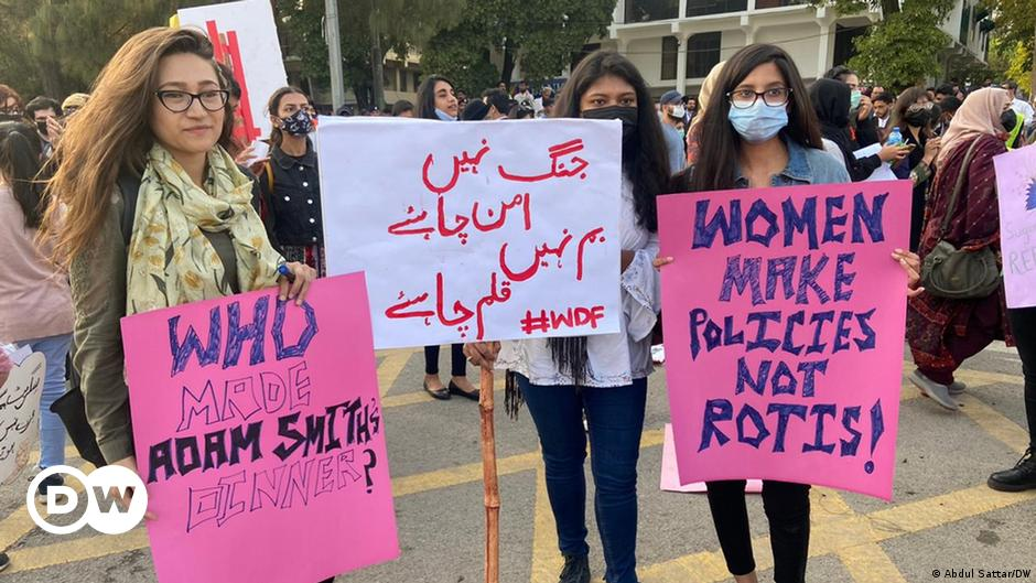 Pakistani women protest 'patriarchy pandemic'