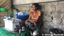 Äthiopien Coronavirus l Straßenverkauf - Mutter versorgt Familie