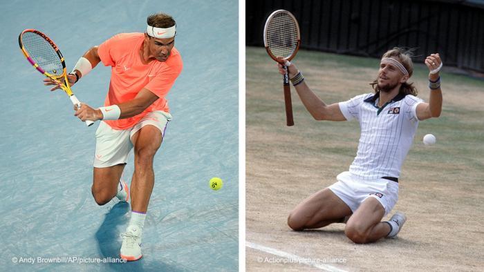 Bildkombo Tennis l Rafael Nadal und Bjorn Borg