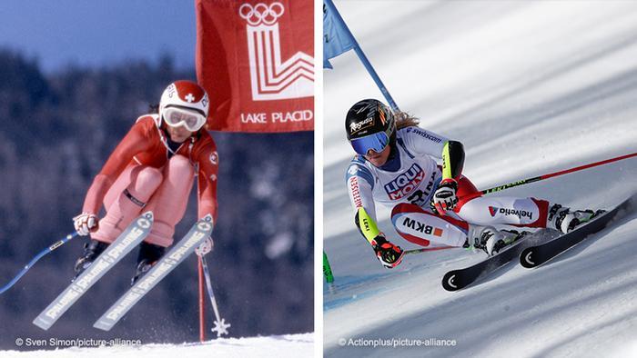 Bildkombo Ski Alpin l Schweiz 1980, Lara Gut Behrami 2021