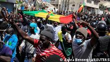 Senegal Justiz l Protest von Unterstützern von Sonkoin Dakar