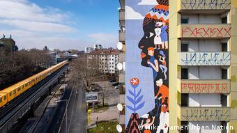 Mural em homenagem a Marielle em Berlim