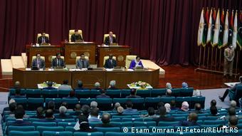 Парламент Ливии на заседании в Сирте, 8 марта 2021 г.