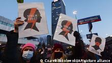 Polen Weltfrauentag in Warschau, Demonstration