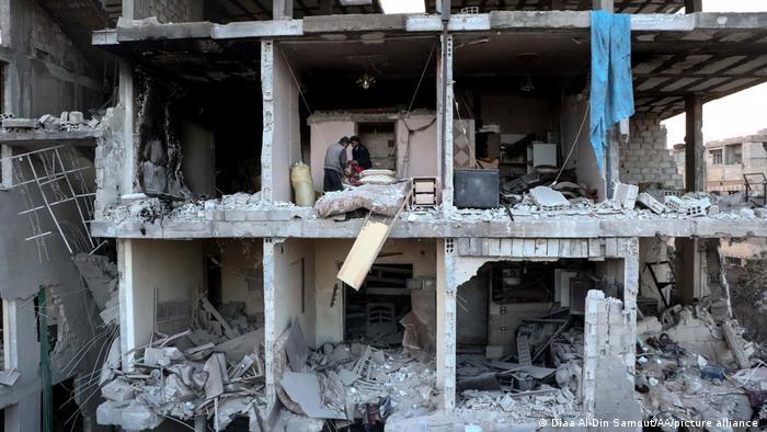 صورة من الأرشيف لمستشفى عربين في الغوطة الشرقية.