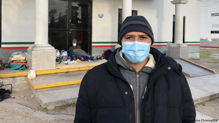 César Moncada, refugiado de Honduras