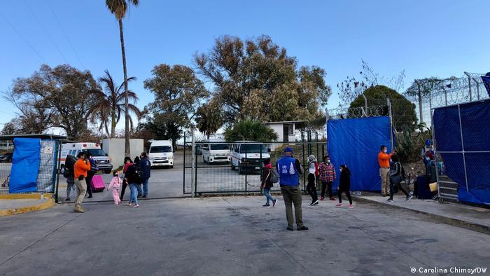 Campo de refugiados de Matamoros.