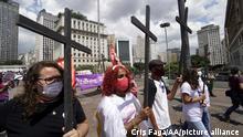 Brasilien Internationaler Frauentag in Sao Paulo