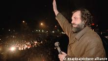 Serbien Oppositionsführer Vuk Draskovic Protest gegen Milosevic 1996