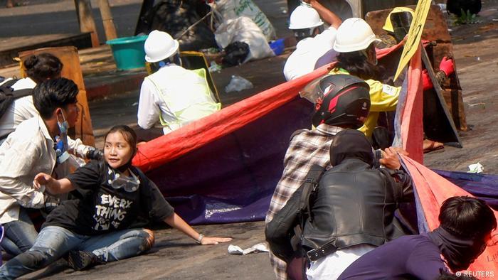 Myanmar Protest gegen Militärputsch Mandalay Mord Kyal Sin