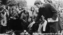 Deutschland RAF Beerdigung von Holger Meins