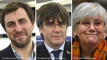 Bildkombo Toni Comin / Carles Puigdemont / Clara Ponsati