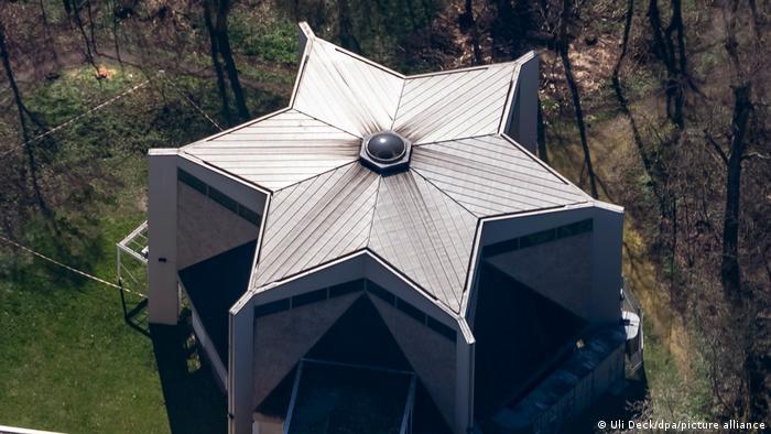 Синагога в Карлсруэ, вид сверху