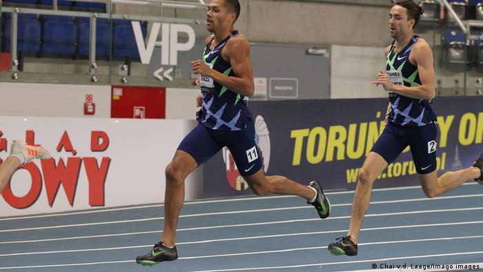Leichtathletik, world athletics indoor tour Gold 2021 Elliot Giles Laufschuhe