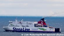 Royal Navy submarine near miss. Passenger vessel Stena Superfast VII operated by Stenaline, passes along the coast at Whitehead in Northern Ireland, after leaving Belfast Harbour en-route to Cairnryan in Scotland. A nuclear powered Royal Navy submarine had a near miss with the ferry in the Irish Sea on 6 November 2018. Picture date: Tuesday January 22, 2019. See PA story SEA Submarine. Photo credit should read: Liam McBurney/PA Wire URN:40767040