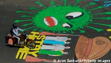Covid-19-Graffitis | Indien