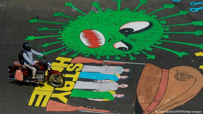 Covid-19-Graffitis | Indien