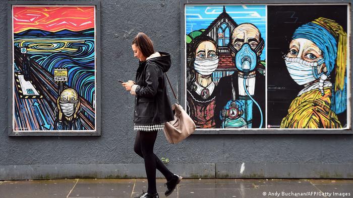 Covid-19-Graffitis | Schottland