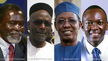 Bildkombination 2 Chad Gegner Politiker Präsident