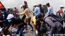 Myanmar Naypyitaw Proteste gegen Militärputsch