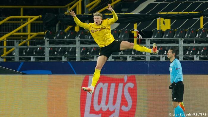 هالاند يتألق في من جديد في مباراة دورتموند وإشبيلية (9 مارس 2021)