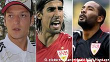 Nationalspieler mit Migrantionshintergrund Özil Cacau Podolski Khedira Flash-Galerie