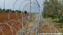 Barb wire - Cyprus government placed barb in buffer zone of astromeritis 10/3/2021 Foto: Loukianos Lyritsas/DW