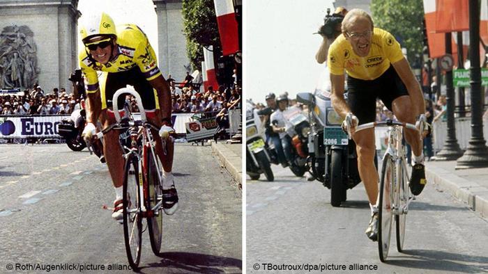 Bildkombo Tour de France 1989 / Greg Lemond / Laurent Fignon