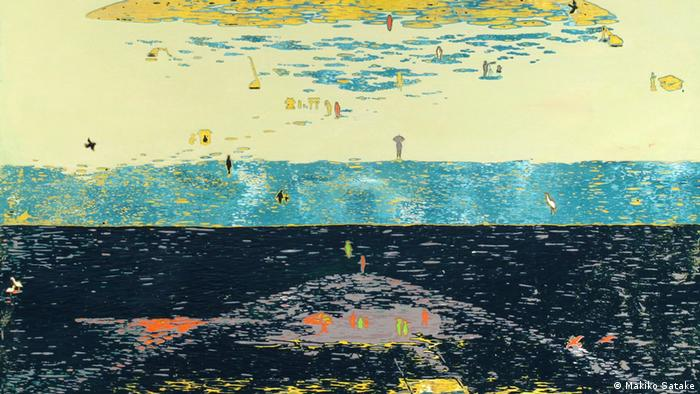 Makiko Satake's Hiyoriyama-Hello again (The painting has been trimmed for formatting reasons)